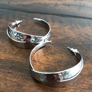 Stella & Dot Silver Earrings
